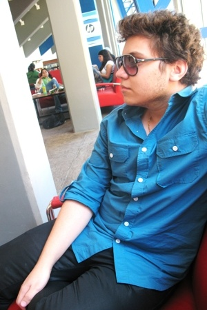 Old Navy shirt - Zara pants - Lacoste sunglasses