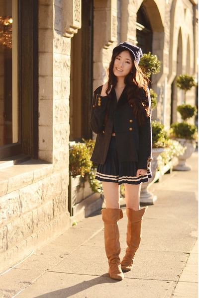 H&M boots - officer Ralph Lauren jacket - sailor OASAP skirt