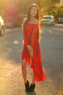 Sugarlips-dress-red-round-oasap-sunglasses-romwe-skirt