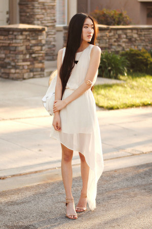merrin &amp; gussy necklace - chiffon OASAP dress - yeswalker bag