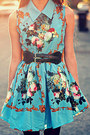 Blue-floral-romwe-dress-romwe-tights