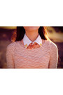 Studded-collar-diy-necklace-rosette-forever-21-necklace-lace-forever-21-top