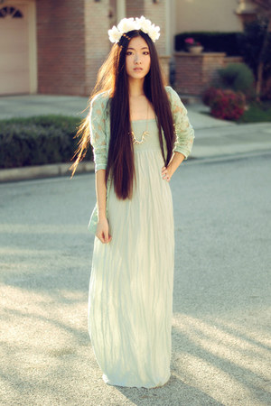Forever 21 Mint Maxi Dress | Chictopia