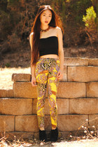 yellow baroque Motel Rocks leggings - Mad Lady necklace