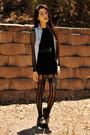 Black-sugarlips-dress-oasap-tights-oasap-sneakers-denim-romwe-vest