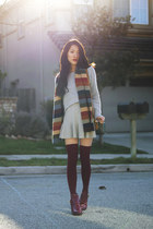 cropped Missguided sweater - Soxxy socks - Shien Cosmetics accessories