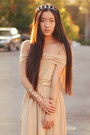 Chain-headband-vintage-accessories-nude-oasap-dress