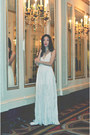 Long-white-gown-lulus-dress-lulus-necklace