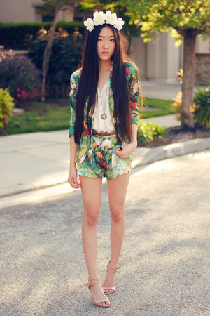 floral print forward to all blazer - floral print forward to all shorts