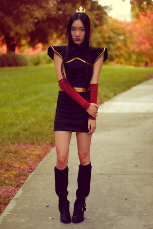 azula DIY dress - mixmaster naughty monkey boots - azula DIY accessories