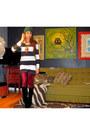 Black-suede-dolce-vita-boots-black-stripes-h-m-dress