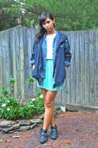 aquamarine pleated skirt Forever 21 skirt - black easy pickins boots