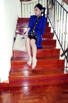 This Fashion dress - thailand belt - nicolethen coat - her world magazine bag -