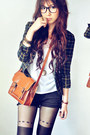 Lime-green-shoes-green-blazer-ivory-shirt-burnt-orange-bag-black-shorts