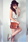 Crimson-bag-ivory-dress-tan-aukoala-sandals