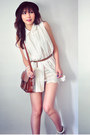 Ivory-dress-crimson-bag-tan-aukoala-sandals