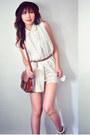 Ivory-dress-crimson-bag-tan-aukoala-sandals