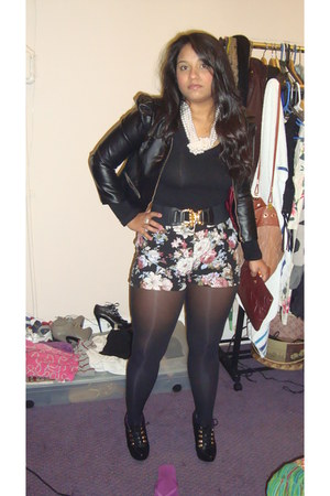H&M jacket - cotton on shorts - Steve Madden heels