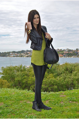 113544cb54a2d Bettina Liano jacket - American Apparel leggings - Alexander Wang bag