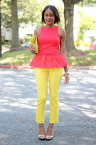 red H&M Trend top - yellow H&M Trend pants