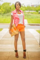 orange J Crew shorts