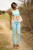 light blue H&M pants