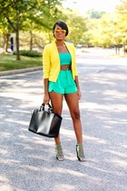 yellow H&M blazer