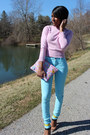 Sky-blue-h-m-jeans-light-pink-gap-sweater-love-cortnie-bag-zara-sandals