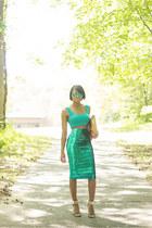 green asos top