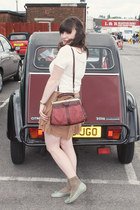 vintage top - vintage flats - Marks and Spencer skirt