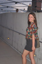 vintagethrift blouse - J Crew shorts - Vintage Gucci purse - vintage shoes