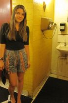 H&M top - Sportsgirl shorts - vintage