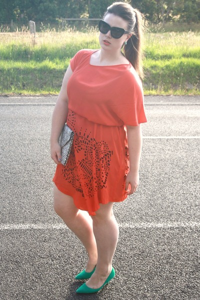 asos dress - House of Harlow Chelsea sunglasses - Wittner heels