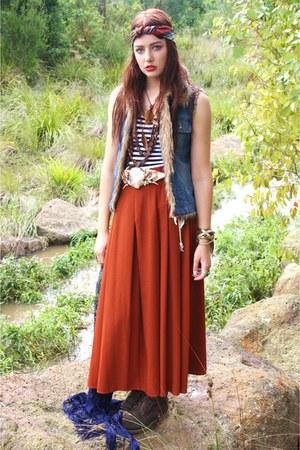 vintage Studded rose vintage skirt - espirit vest