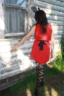 Black-thriftedifted-studded-rose-vintage-dress-ebay-random-tights-black-targ