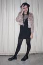 Black-dr-marten-school-shoes-shoes-black-vintage-dress-nude-vintage-jacket-