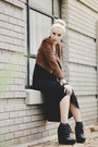 Black-diy-boots-brown-suede-bcbg-jacket-black-studded-bcbg-skirt