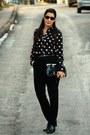 Black-karaca-shoes-black-h-m-shirt-black-mango-bag-silver-unbranded-access