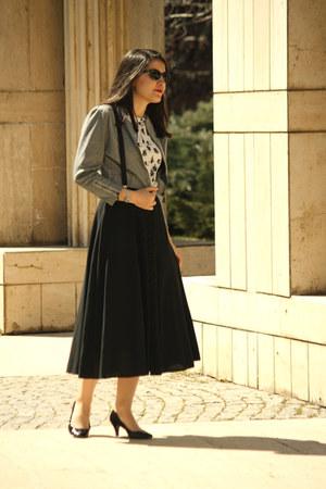 black Marks & Spencer shoes - heather gray Batik jacket - white Zara blouse - bl