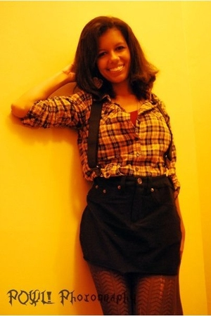 Forever 21 skirt - Wowi cant remember oo shirt - target i belive stockings