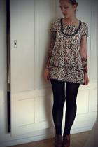 H&M tights - terminal d dress - H&M shoes - jacket
