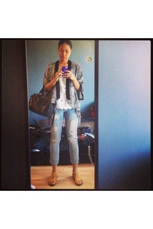 Buffalo jeans - Zara top - Urban Outfitters cardigan