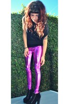 hot pink Epifania leggings - black Ebay shoes - black Epifania shirt