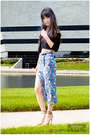 Cut-out-crop-top-forever-21-skirt