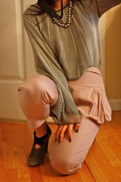 loeffler randall harem pants - rag  & bone blouse