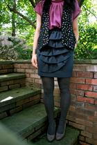Zara blouse - Zara vest - navy Philip Lim skirt skirt