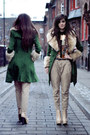 Green-wool-romwe-coat-pattern-romwe-shirt-camel-safari-zara-pants