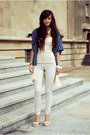 Navy-ethnic-choies-blazer-ivory-basic-bershka-pants