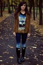 Hunter-hunter-boots-rocker-bershka-top