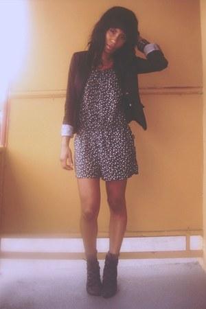 Target romper - Deena & Ozzy shoes - H&M blazer